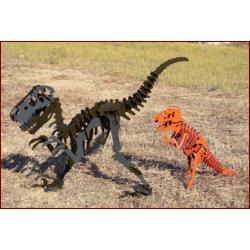tyrex et velociraptor